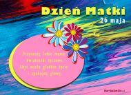 eKartki Dzień Matki Tęczowe kwiatuszki,