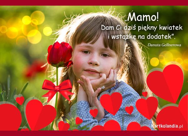 eKartki elektroniczne z tagiem: Tulipan Piękny kwiatek dla Mamy,