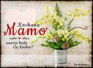eKartki elektroniczne z tagiem: Bukiet kwiatów Kartka retro dla Mamy,