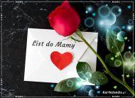 eKartki elektroniczne z tagiem: Róża List do Mamy,