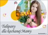eKartki elektroniczne z tagiem: Bukiet kwiatów Tulipany dla kochanej Mamy,
