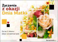 eKartki elektroniczne z tagiem: Bukiet kwiatów Życzenia z okazji Dnia Matki,