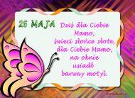 eKartki Dzień Matki Barwny motyl dla Mamy,
