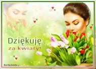 eKartki Wyra¼ uczucia Dziêkujê za kwiaty!,
