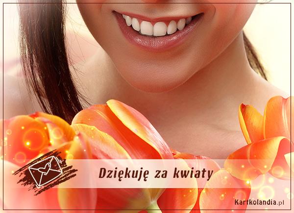 eKartki Wyraź uczucia -> Dziękuję Ci Dziękuję za kwiaty!,
