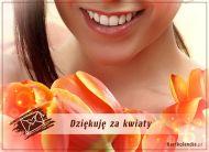 eKartki Wyraź uczucia Dziękuję za kwiaty!,
