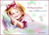 eKartki elektroniczne z tagiem: Darmowa e-kartka dobranoc Ko³ysanka,