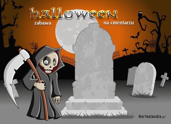 Zabawa na cmentarzu