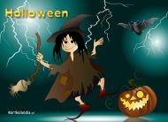 eKartki Halloween Czarownica,