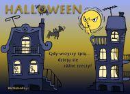 eKartki Halloween Gdy wszyscy ¶pi±,
