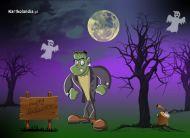 eKartki   Halloween w ciemno�ciach,