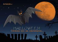 eKartki elektroniczne z tagiem: e-Kartka na Halloween Noc na cmentarzu,