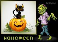 eKartki elektroniczne z tagiem: Darmowe kartki na Halloween Nadchodzi Zombie,