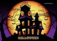 eKartki elektroniczne z tagiem: Darmowe kartki na Halloween Straszny dwór,