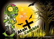 eKartki Halloween Atak Zombie,