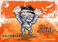 eKartki Halloween Mumia nadchodzi,