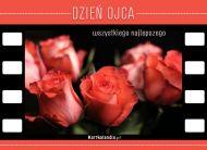 eKartki Dzień Ojca Róże i życzenia,