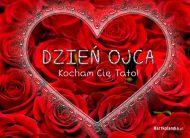 eKartki Dzień Ojca Serce usłane różami,