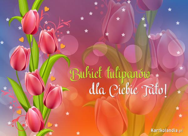 Bukiet tulipanów dla Taty