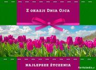 eKartki elektroniczne z tagiem: Darmowe e-Kartki na Dzień Ojca Łąka tulipanów,