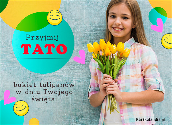 eKartki elektroniczne z tagiem: Tulipan Bukiet tulipanów dla Taty,