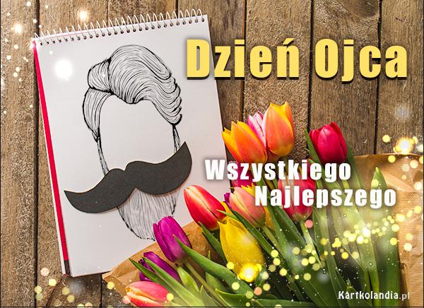 eKartki elektroniczne z tagiem: Tulipan Dzień Ojca - Bukiet tulipanów,