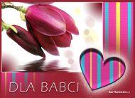 eKartki elektroniczne z tagiem: Dzieñ Babci Kartki Kartka z kwiatkiem dla Babci,
