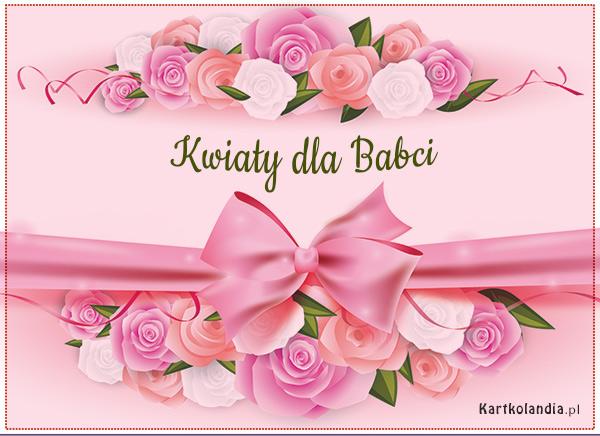 eKartki Dzień Babci i Dziadka Kwiaty dla Babci,