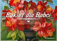 eKartki elektroniczne z tagiem: Darmowe kartki internetowe Bukiet dla Babci,