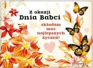 eKartki Dzień Babci i Dziadka Motylki dla Babci,