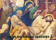 eKartki Religijne Jezus do grobu złozony,