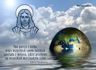 eKartki Religijne Pan patrzy z Nieba,