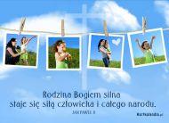 eKartki Religijne Rodzina Bogiem silna,