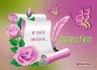 eKartki Imienne damskie Imieniny Dorotki,