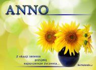 eKartki Imienne damskie Kwiaty dla Anny,