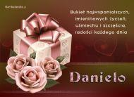 eKartki Imienne damskie Prezent imieninowy dla Danieli,