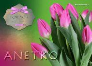 eKartki Imienne damskie Tulipanki dla Anetki,