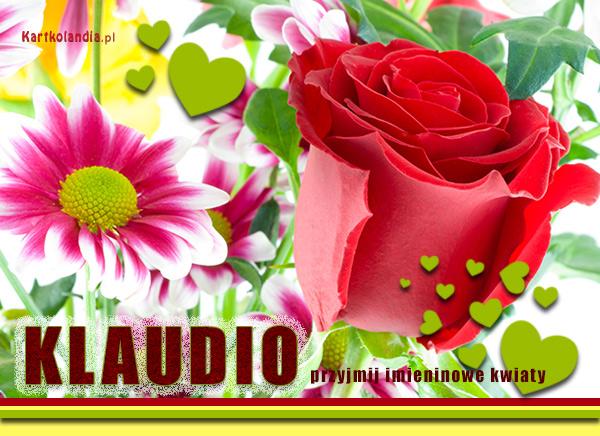 Imieninowe kwiaty dla Klaudii