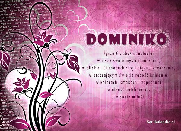 Życzenia dla Dominiki