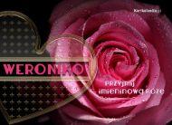 eKartki Imienne damskie Imieninowa róża,