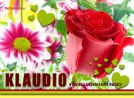 eKartki Imienne damskie Imieninowe kwiaty dla Klaudii,