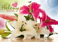 eKartki Imienne damskie Imieninowe lilie,