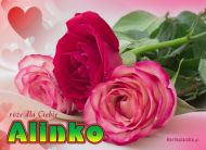eKartki Imienne damskie Róże dla Aliny,
