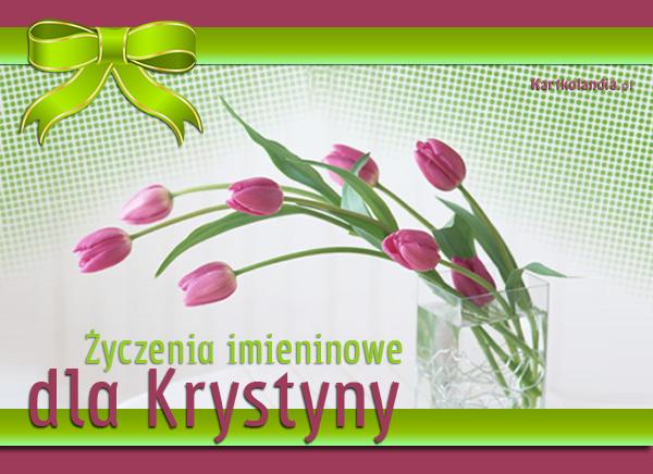 Kartka imieninowa dla Krystyny