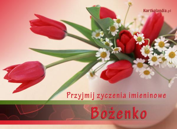 Kwiaty imieninowe dla Bożenki