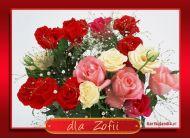 eKartki Imienne damskie Róże dla Zofii,