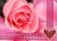 eKartki Imienne damskie Róża dla Izabeli,