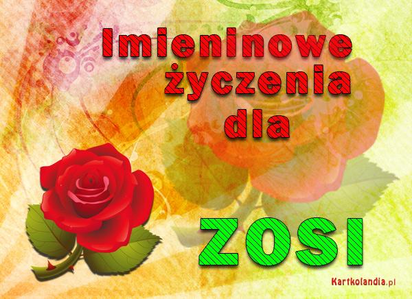 Życzenia dla Zosi