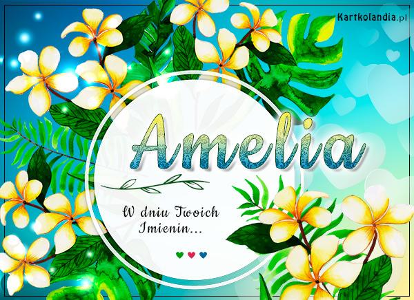 eKartki elektroniczne z tagiem: Amelcia Amelia - Tropikalne Imieniny,