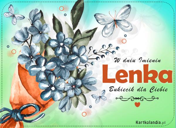 Bukiecik kwiatów dla Lenki